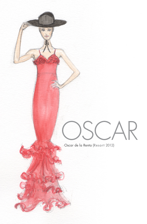 Oscar de la Renta Resort 2012 – sketch and pixel 4ed0213bd62
