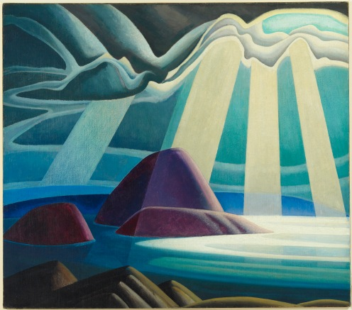 Lawren S. Harris Lake Superior circa 1923 oil on canvas 111.8 x 126.9 cm The Thomson Collection at the Art Gallery of Ontario © 2016 Estate of Lawren S. Harris