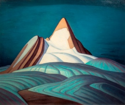 Lawren S. Harris Isolation Peak, Rocky Mountains 1930 oil on canvas 106.7 x 127 cm Hart House Permanent Collection, University of Toronto. Purchased by the Art Committee with income from the Harold and Murray Wrong Memorial Fund, 1946 © 2016 Estate of Lawren S. Harris